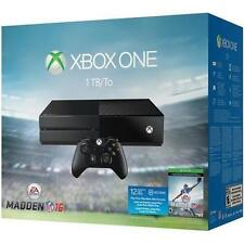 Microsoft Xbox One Madden NFL 16 Bundle 1 TB Black Console - NEW!