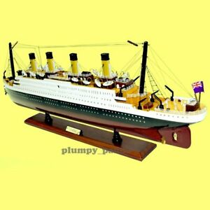"""Handcrafted RMS Titanic 1/330 Scale 32"""" Historical Model Cruise Ship GIFT"""