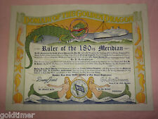 1952 KOREAN WAR NAVY  USNS MARINE SERPENT DOMAIN  GOLDEN DRAGON CERTIFICATE