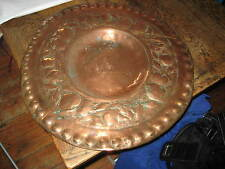 VERY LARGE ENGLISH ARTS & CRAFTS COPPER PLAQUE FRUITS & FOLIAGE