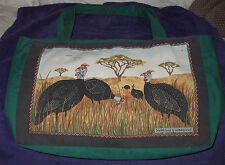"Guinea Fowl Hand or Tote Bag 11"" X 17"" X 3-1/2"""