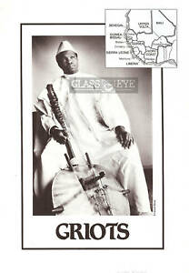 GRIOTS photo West African poetry bards kora B&W 5x8