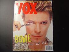 DAVID BOWIE VOX MAGAZINE OCTOBER 1995