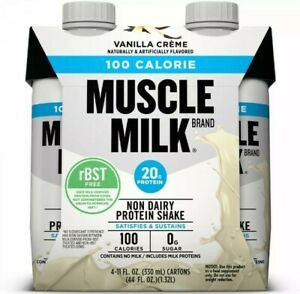 Pack of 4- Muscle Milk  Non Dairy Protein Shake Vanilla Creme 20g Protein