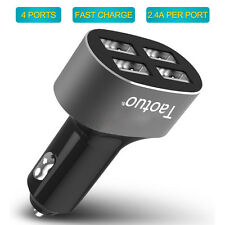 USB 4-Port Fast Charging Car Charger Power Adapter for iPhone Samsung Tablet PC