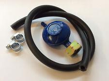 Screw On LPG Gas Regulator butane 28mbar Caravan + 1 mtr Hose & Clips Free 18597