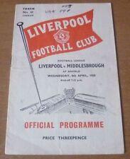Away Teams Middlesbrough Written - on Football Programmes