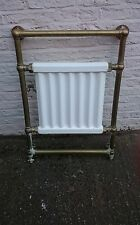 Cast Iron Victorian Radiator And Brass Pipework