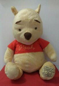 """Disney Mattel 2005 Winnie The Pooh 80th Anniversary 24"""" Stuffed Plush Bear"""