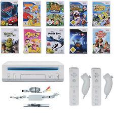 Nintendo Wii Konsole ►2x Remote & 2x Nunchuck Neu ► 5 X Spiele