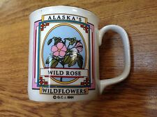RARE 1991 ALASKA'S WILD ROSE WILDFLOWERS COFFEE TEA MUG CUP