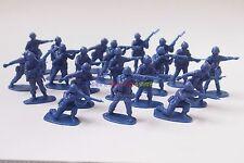 New Plastic Army Men 1/35 Figures 5cm (20pcs) Military Set Toy Soldier - Blue