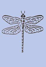 Dragonfly Stencil Vintage A4 MYLAR Shabby Chic Muro Mobili Tessuto 004
