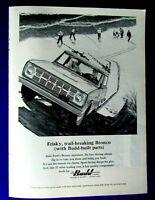 """1966 Ford Bronco V8 Power Original Print Ad  8.5 x 11 /"""""""