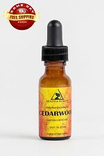 CEDARWOOD ESSENTIAL OIL ORGANIC AROMATHERAPY PURE GLASS DROPPER 0.5 OZ, 15 ml