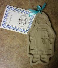 """Brown Bag Cookie Art Mold 8"""" Rag Doll Raggedy Ann Hill Design Stoneware NWT"""
