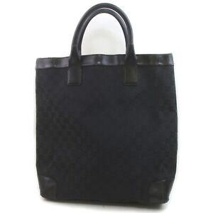 Gucci Tote Bag GG Black Canvas 1903531