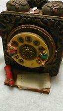 Mice vintage telephone music box animated musical motion rare