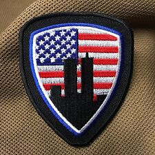 American Flag World Trade Center Shield 9-11 Patch