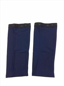 2020/21 No Logo Roubaix Cycling Knee WARMERS in Navy- Made in Italy by GSG