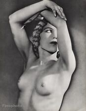 1932 Vintage Solarized FEMALE NUDE Breast Woman Surreal Photo Art 16X20 MAN RAY