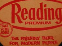 Reading Premium Beer Coasters 'The Friendly Beer for Modern People' Lot of 50