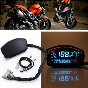 Universal LCD Backlight Motorcycle Odometer Digital Speedometer Tachometer Gauge