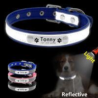 Personalisierte Reflektierendes Hundehalsband Mit Gravur Hunde/Katzen Gepolstert