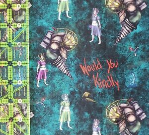 Custom 100% Cotton Woven Bioshock Video Game by the 1/4 Yard Would You Kindly