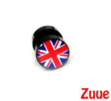 Union Jack Faker Ear Plug! Makes your ears look 10mm! Cheater Tunnel Piercing
