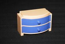 Playmobil vie quotidienne commode tiroirs bleus maison moderne 3966 4062