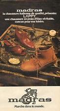Publicité 1976 Chaussures madras la chaussure italienne de qualité ! peau d'élan