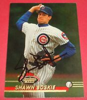 1993 Stadium Club #583 Chicago Cubs SHAWN BOSKIE Hand Signed Auto Autograph Card