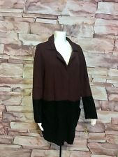 New Style&co Dried Plum Black Snap Button Vintage Soul Sweater Jacket Womens M