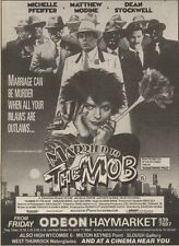 24/6/89Pgn31 Advert: On Screen Michelle Pfeiffer In 'married To The Mob' 7x5