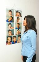 "Picture Pockets For Larger Photos of 7 x 5"" Hanging Gallery Frame Display Wall"