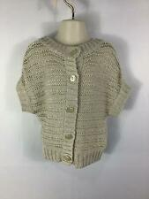 GIRLS GAP KIDS GOLD/SILVER SHORT SLEEVE SMART/CASUAL CARDIGAN SIZE AGE 4-5 YEARS