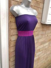 PRIMARK OCEAN CLUB ladies womens purple summer casual long maxi dress size 8 S