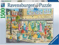 NEW! Ravensburger Sidewalk Fashion 1500 piece nostalgic american jigsaw puzzle