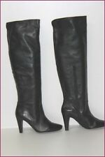 MINELLI Bottes Cuissardes Cuir Noir T 36 TTBE