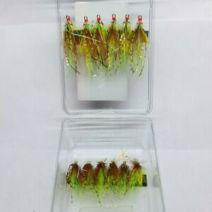 FULLINGMILL, Salmon Flies 12 Pack, Fulling Mill Squid Internat, Salmon Fishing