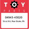 04943-43020 Toyota Strut kit, rear brake, rh 0494343020, New Genuine OEM Part