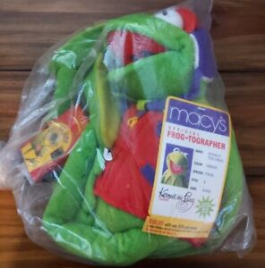 """Macys Official Kermit the Frog-Tographer Plush w/ Camera 26"""" New w/Tags"""