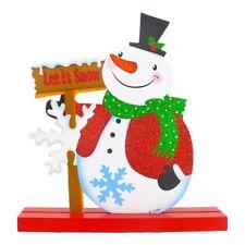 Decorazioni natalizie Soggiorno pupazzo di neve Decorazione 18 x 19cm O7B6