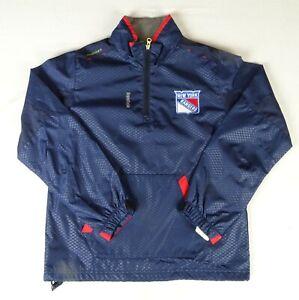 New York Rangers NHL Reebok Youth Quarter Zip Windbreaker Jacket FLAWED