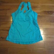 LULULEMON PUSH UR LIMITS TANK IN TEAL zeal WITH CUPS SIZE 8