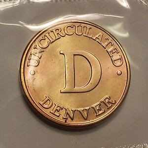 Denver Mint Token in Cello from U.S. Mint, Brilliant Uncirculated