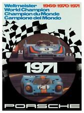 Porsche *POSTER* 69' 70' 71' Weltmeister Race Car Image 911 - BEAUTIFUL PRINT