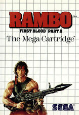 RAMBO First Blood Part II SEGA Master System Framed Print (Man Cave Picture Art)