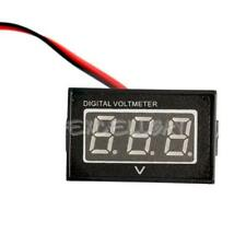 Waterproof DC 2.5 to 30V Red LED Panel Meter DC Digital Voltmeter Two-wire  E0Xc